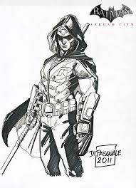 batman arkham city robin coloring pages sketch coloring page