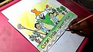 how to draw clean india green india color drawing for kids