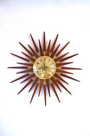 mid century sunburst wall clock from anstey wilson