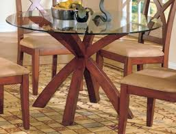 x base round dining table salvaged wood