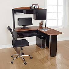 l office desk. Corner L Shaped Office Desk With Hutch (Black And Cherry)