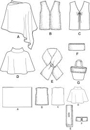 Poncho Sewing Pattern Extraordinary Simplicity 48 Ponchos Vests Misc Access