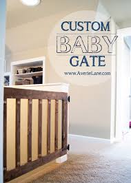 wood baby gate for stairs