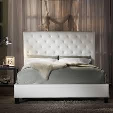 white modern master bedroom. Fancy White Tufted Headboard For Modern Master Bedroom Ideas With Elegant Fur Comforter