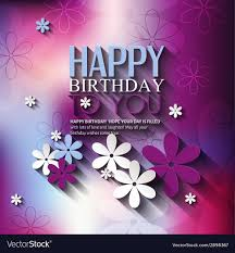 Birthday Flowers Background Design Birthday Card With Flowers On Colorful Background