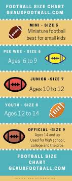 Football Size Chart A Helpful Illustrated Guide