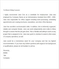 Recommendation Letter Template Job Copy Example Reference Letter For ...