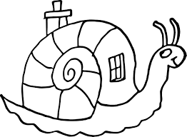 Coloriage Escargot Maison Imprimer