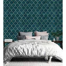 Fãs de papéis de parede listrados e decoração diferenciada vão adorar esta coleção smart stripes ii. Papel De Parede Marraskesh Azul Turquesa Gold Para Quarto Papel De Parede Extra 16428000