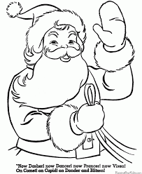 Small Picture Santa Coloring Pages Printable babsmartincom babsmartincom