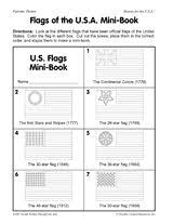 Small Picture Flags of the USA Mini Book Printable Celebrate Flag Day June