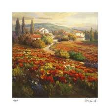 Fields of Lavender' Art Print - Roberto Lombardi   Art.com