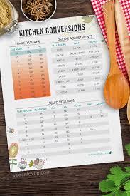 Kitchen Conversions Chart Archives Veganlovlie