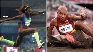 La colombiana caterine ibargüen compite en la ronda clasificatoria del triple salto femenino en los juegos olímpicos de verano 2020, en tokio, el viernes 30 de julio de 2021. W8bkt9fxyqeipm