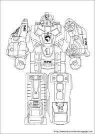 Power Rangers Coloring Pages Free For Kids