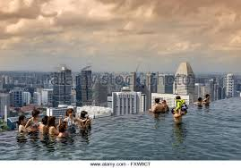 infinity pool singapore. Marina Bay Sands , Infinity Pool, Roof Terasse, Bay, Singapore, Singapur Pool Singapore