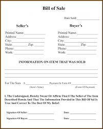 Automobile Bill Of Sale Form 042 Tractor Bill Of Sale Form Ga Vehicle Template Fillable