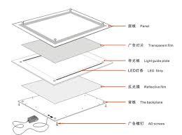 Led Light Box Display Stand A100 Size Led Backlit Acrylic Panel Display Menu Light Box Desktop 78