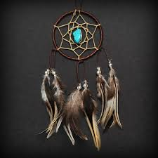 Picture Of Dream Catchers Brown Turquoise Stone Car Mirror Dream Catcher Boho Car 2