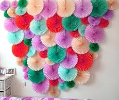 Small Picture Aliexpresscom Buy 4pc 10inch25cm Tissue Paper Fan Honeycomb