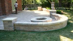 Small Picture patio fire pit and sitting wall Patio Pinterest Patio fire
