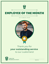 employee of month employee of the month certificate template