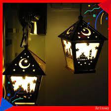 Đèn Ngủ Mini Bằng Gỗ Hình Ngôi Nhà Treo Trang Trí Tiệc Tùng - Đèn pin