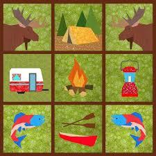 8 best Paper piecing images on Pinterest | Bird quilt blocks ... & Camping Tent paper pieced block Adamdwight.com