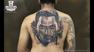 M S Dhoni Big Portrait Tattoomahesh Chavanjaisonifan