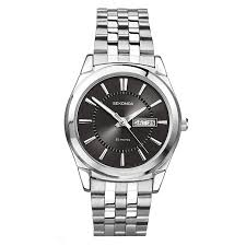 watches h samuel sekonda men s black dial and stainless steel bracelet watch product number 1984527