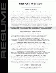 Makeup Artist Resume Sample Job And Resume Template