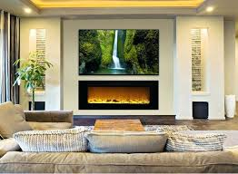 napoleon linear wall mount electric fireplace with regard to mounted under prepare tv beside the best fireplaces