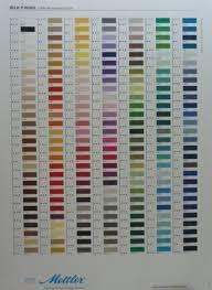 Mettler Color Chart More On Mettler Thread Sewjournal