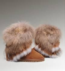 Ugg Fox Fur Short 8288 Chestnut Boots