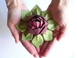 Paper Lotus Flower Paper Craft Flowers How To Fold An Origami Lotus Blossom