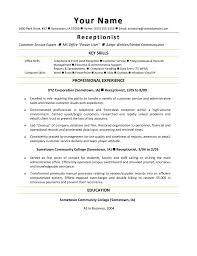 Cover Letter Front Desk Sample Resume Medical Receptionist Skills
