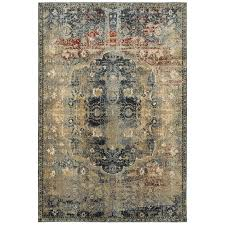 oriental weavers empire 4449h gold blue area rug