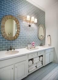 light blue bathroom tiles. House Of Turquoise: Tracy Hardenburg Designs - Blue Subway Tile Bathroom Love This For One The Boys\u0027 Bathrooms Light Tiles