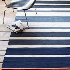 pretentious striped cotton dhurrie rugs gradated stripe half moon west elm