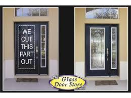 front door window insert