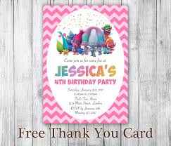 trolls birthday party printables girls birthday party trolls invitation trolls birthday trolls party trolls invites trolls printables trolls movie troll card