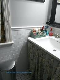 chair rail bathroom. Luxury Bathroom Tile Chair Rail Height Fresh Energy . L