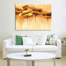 handmade modern abstract decorative the lotus leaf oil painting on canvas wall art for living room