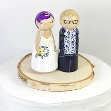 Peg Doll Cake Topper Bride Groom Custom Custom Wedding Etsy