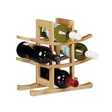 bamboo wine rack. Modren Bamboo Relaxdays Bamboo Wine Rack Bottle Holder For 9 Standard Bottles Original  Design Free Intended Rack
