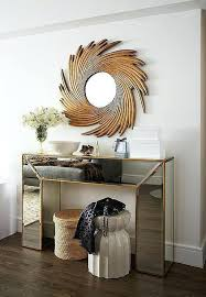 mirror and table for foyer. Mirror And Table For Foyer Gold Mirrored Console With Sunburst E