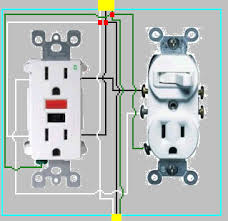wiring diagram two lights in series images light wiring diagrams electrical how to add gfci a box one outlet controlled by
