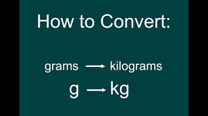 Kilograms To Grams Conversion Chart How To Convert G To Kg Grams To Kilograms Easy