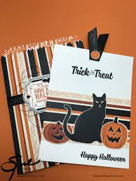 Halloween Gift Cards Stampin Up Halloween Spooky Cat Gift Card Holder For The