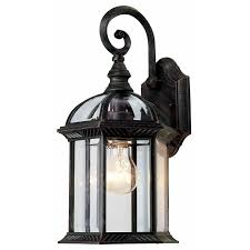 england style outdoor lighting with glass and bulb lamps design